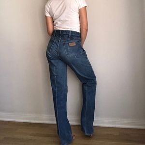 Vintage Faded Wranglers, High Waisted Distressed